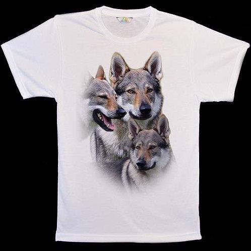 Czechoslovakian Wolf Dog Collage T-Shirts