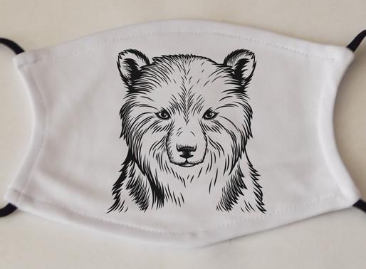 Fox Face Masks, Animal Face Masks and Personalised Face Masks