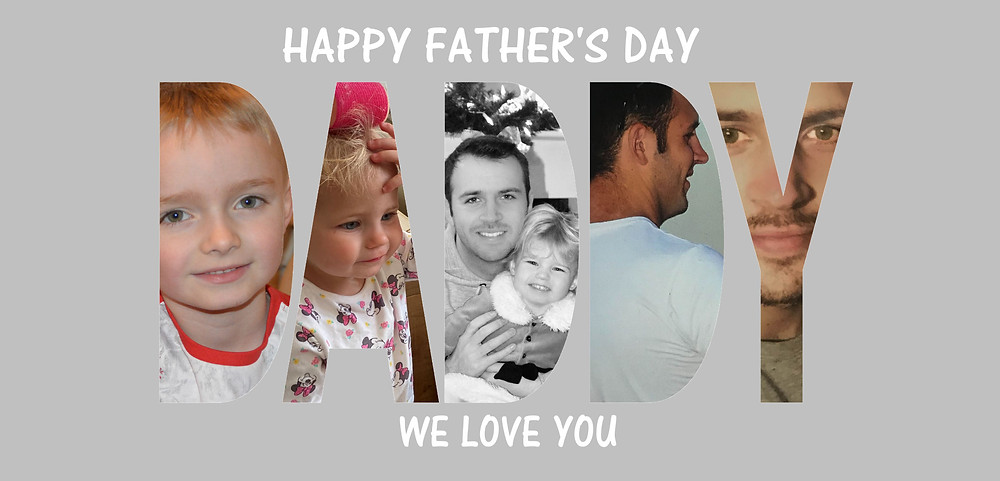 Personalsied Father's Day Daddy Mug Featuring five of your photographs.