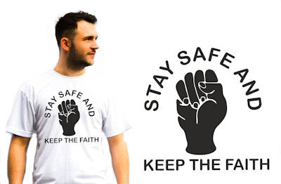 Northern Soul T-Shirts Stay Safe and Keep The Faith
