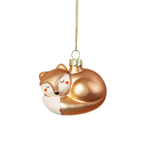 BABY FOX SHAPED Christmas BAUBLE