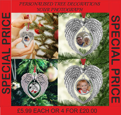 PERSONALISED Christmas Tree Decorations | Personalised Photo Decoration Xmas | Christmas Gift Idea |