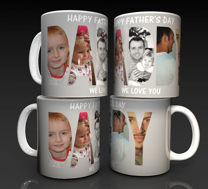 Personalised Father's Day Photo Mug using 5 of your photographs