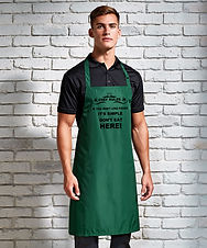 Personalised Wipe Clean Aprons | BBQ Aprons | Cooking Aprons |