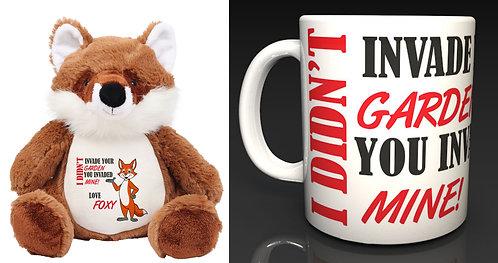 Mumbles Zippie the Red Fox I Didn't Invade Your Garden, Fox & Mug