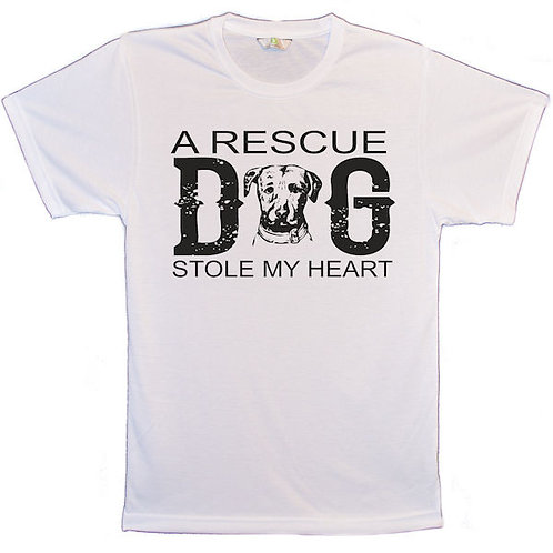A Rescue Dog Stole My Heart T Shirt
