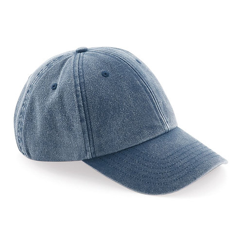 Low profile 6 panel Cap design. Soft unstructured crown. Vintage styling.