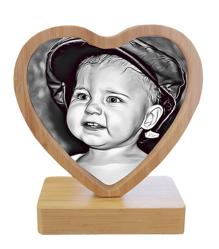 Personalised Revolving Magnetic Heart Frame with Two Photographs