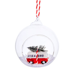 coming home for christmas camper van bauble