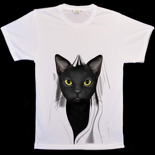 Black Cat Peep T-Shirts