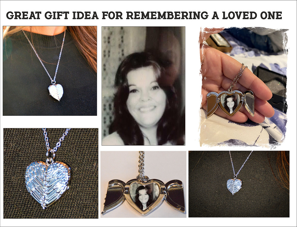 Angel Wings Heart Pendant personalised with your photograph, Valentine's Day, February 14th