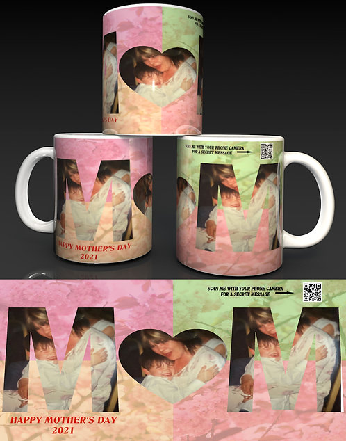 Personalised Mother's Day Ceramic Mug with a Hidden QR Code Message