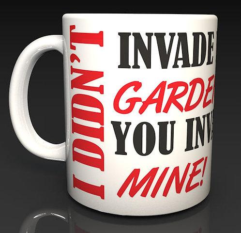 New Fox Logo I Didn't Invade Your Gardens Ceramic Dishwasher Safe Mug