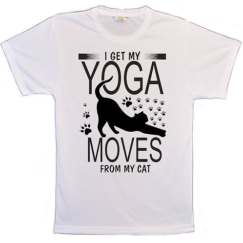 I Get My Yoga Moves From My Cat T Shirt