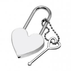 Personalised Padlock with key, Key Ring, Personalised with your photograph, gift