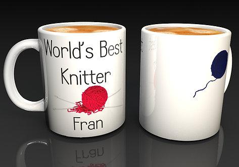 Personalised World's Best Knitter Mugs