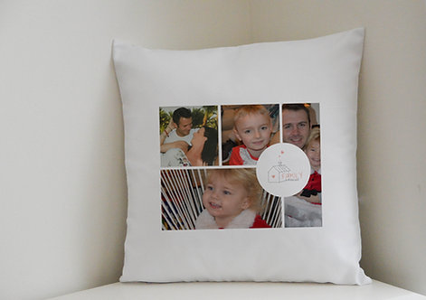 Cushion Cover Family is forever 4 of your photographs Great Gift