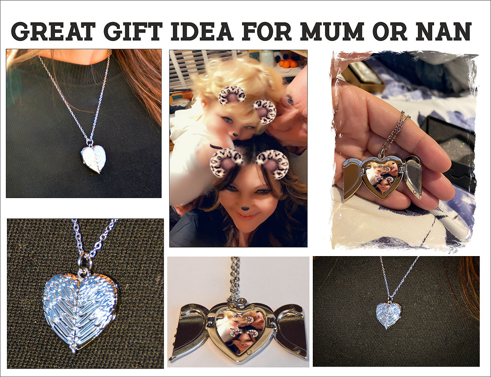 Personalised Angel Wings Heart Necklace, Great Gift Idea for Mothers Day and any special occasion