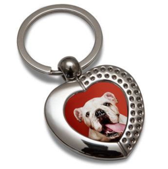 Personalised Heart Keyring, your photograph