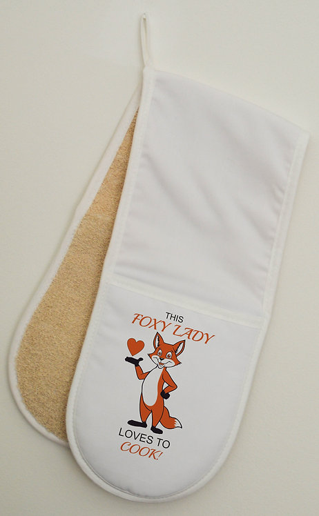 Red Fox Double Oven Gloves Mitts Great Gift for the fox fan in your family foxes