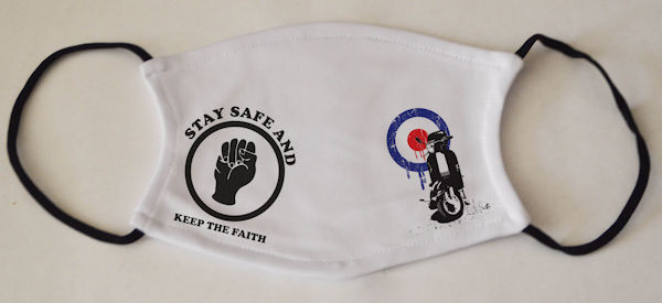 Northern Soul Face Mask Scooter and Northern Soul Fist Logo
