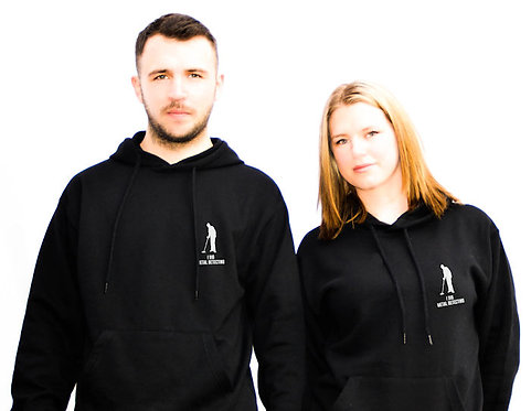 His Or Her's I Dig Metal Detecting Hooded Black Sweatshirts