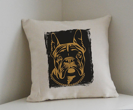 Cushion and Printed Cover 'Dog Face'