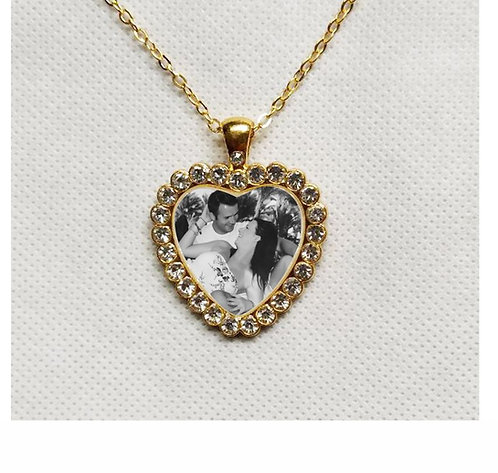 Personalised Heart Shape Necklace, printed with your photo, Mothers Day Memorial 5