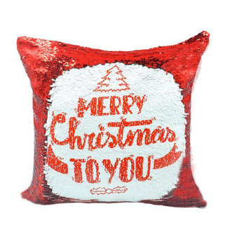 Personalised Red Sequin Cushion cover and Pillow 40 x 40cm