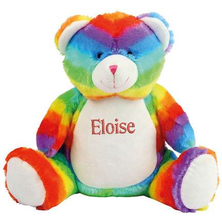 EMBROIDERED Mumbles Rainbow Bear