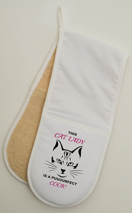 Cat Double Oven Gloves Mitts Great Gift for the Cat fan in your family, Cats
