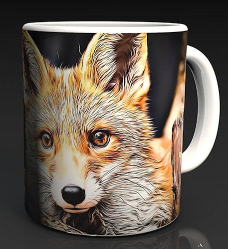 Angel the Red Fox Ceramic Mug