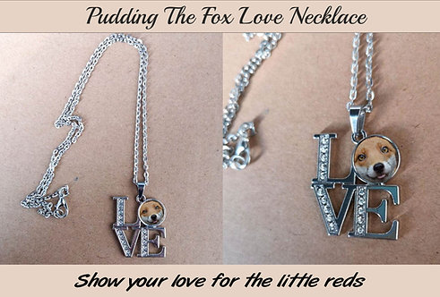 Love Foxes Necklace, Featuring Pudding The Fox, Great Gift Idea