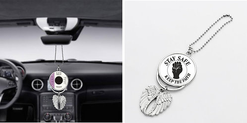 Northern Soul Car Pendant Angel Wing Mirror Decoration Hanging Charm