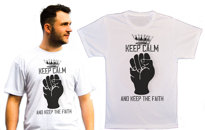 Northern Soul T-Shirt Keep Calm And Keep The faith