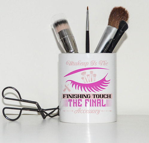 Ceramic Make Up Brush Pot Makeup is the finishing touch the final accessory