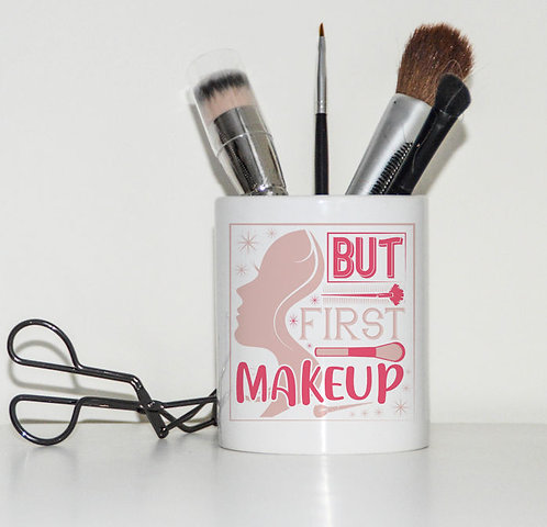 Ceramic Make Up Brush Pot But First Makeup