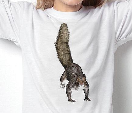 Children's T-Shirts Grey Squirrel