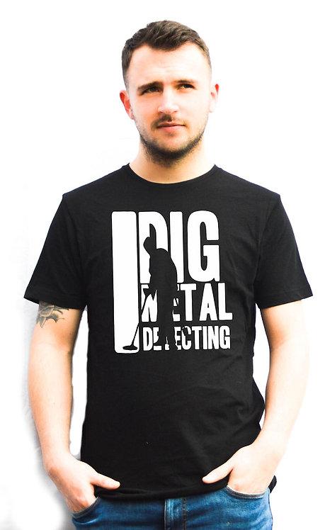 I Dig Metal Detecting Black Unisex T-Shirts - 1