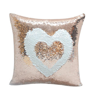 Personalised Champagne Sequin Cushion cover and Cushion 40 x 40cm