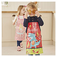 Personalised Wipe Clean Aprons | Roar Apron and Little Superstar Apron | Kids Wipe Clean Aprons |