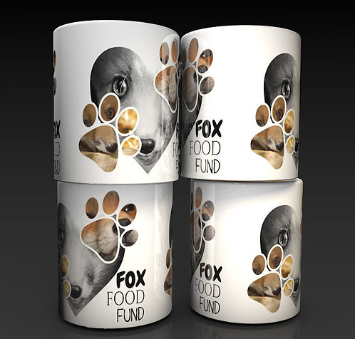 Fox Food Fund Photo Ceramic Piggy Bank /Tip Boxes Saving for the little reds