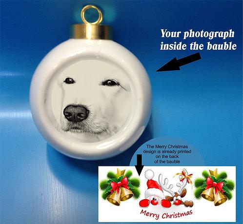 Personalised Christmas Ceramic Baubles
