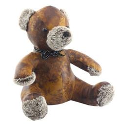 Teddy Bear Door  | Faux Leather Door Stop | Doorstop Gift |