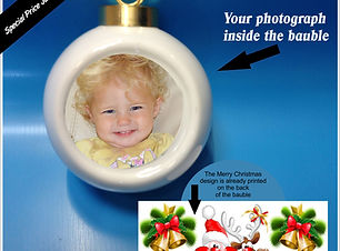 Personalised Christmas Baubles | Photo Baubles | Personalised Christmas Gifts | Personalised Gifts |