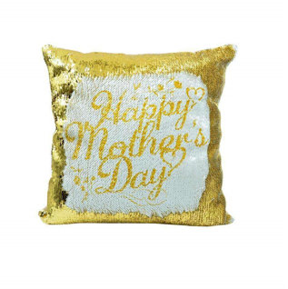 Personalised Gold Sequin Cushion cover and cushion 40 x 40cm