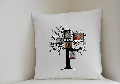 Personalised Cushion Cover Family Tree 5 of your photographs Great Gift for mum