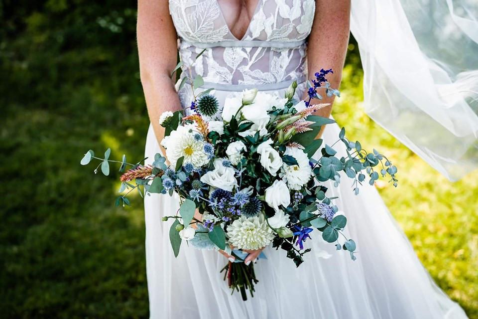Cool toned bridal