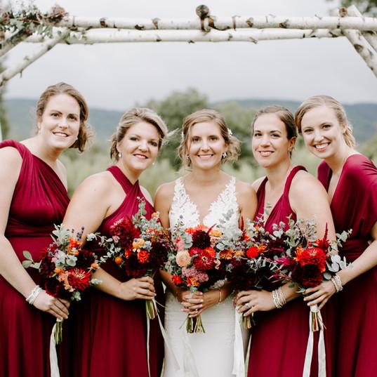 Autumn bridal flowers