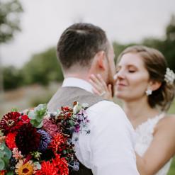 Rich toned autumn bridal